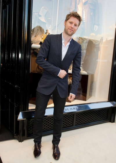 Christopher Bailey, direttore creativo Burberry all'inaugurazione del Burberry Brit store di Covent Garden