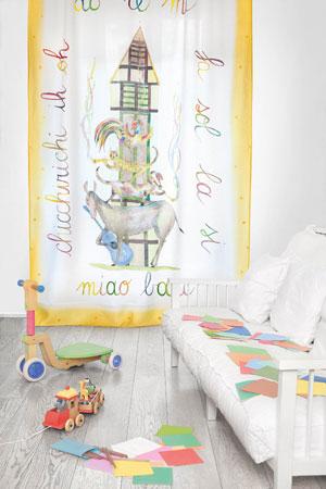 Prima collezione di tende per bambini per Mastro Raphaël ...