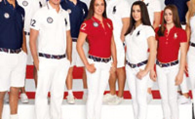 Ralph Lauren con il team Usa a Londra 2012