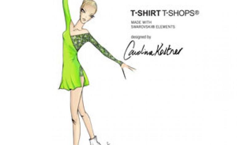 Carolina Kostner in pista con Swarovski Elements e T-Shirt T-Shops