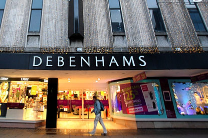 Debenhams store Londra