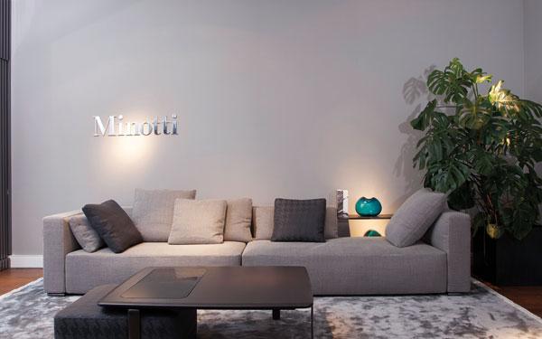 Nuovo monobrand minotti a berlino pambianco design - Divano minotti prezzo ...