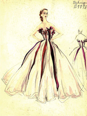Sketch di Elsa Schiaparelli