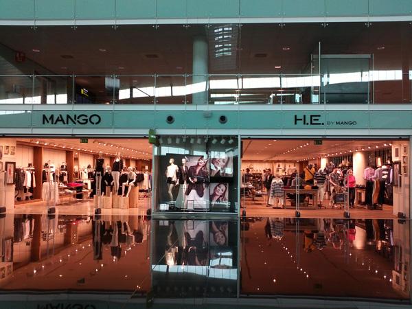 Store Mango all'Aeroporto del Prat di Barcellona