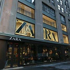 Un punto vendita di Zara