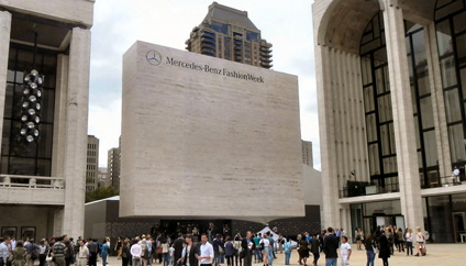 New York Fashion Week at Lincoln Center Fall/Winter 2012