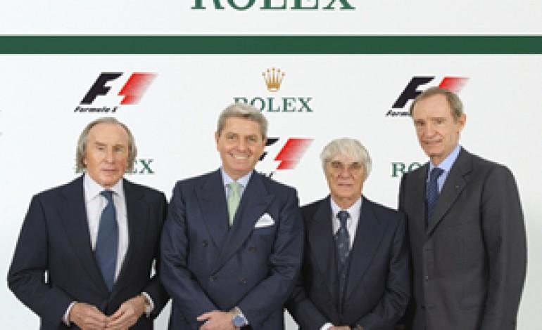Partnership tra Rolex e Formula 1