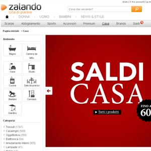 Zalando ora online la sezione casa pambianco news for Zalando arredo casa