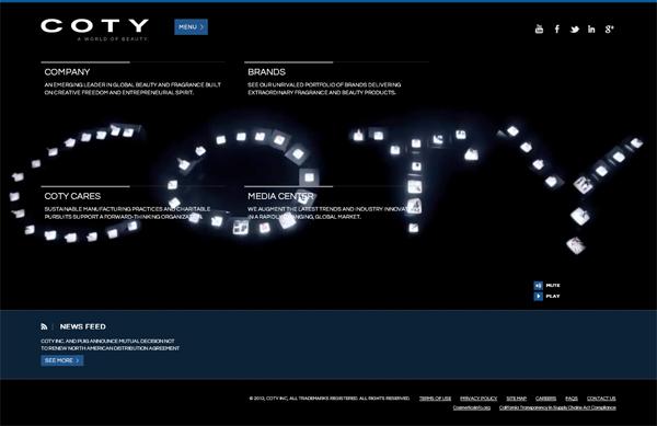 Coty - Sito web