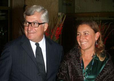 Patrizio Bertelli e Miuccia Prada