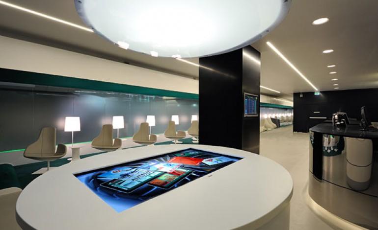 Prandina illumina la lounge Alitalia di Fiumicino