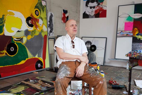 Il pittore tedesco Klaus Killish