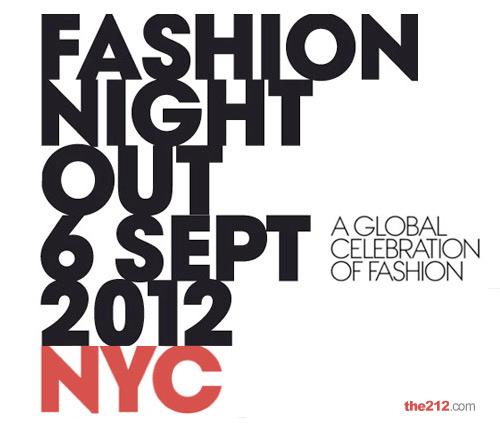 La locandina Vogue Fashion Night del 2012