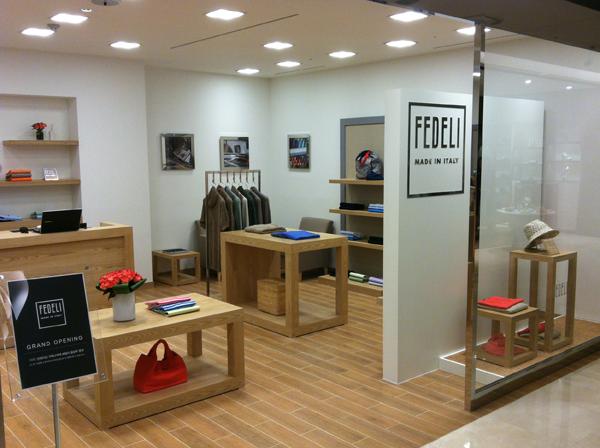 Fedeli Cashmere boutique Seoul