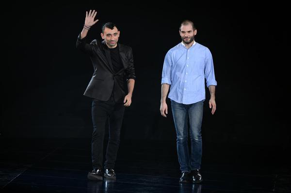 A sinistra, Nicola Formichetti