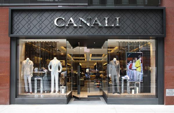 L'esterno della boutique di Canali a New York