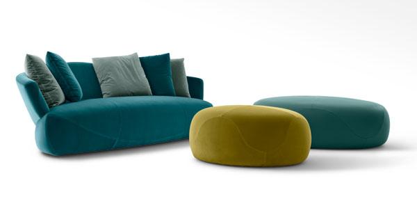Solemydae divano e pouf, design Rossella Pugliatti