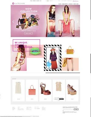L'home page del sito L'Autre Chose