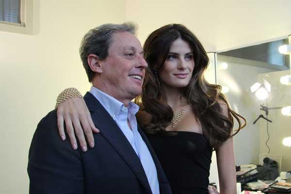 Maurizio Merenda, AD di Stroili Oro, e Isabeli Fontana