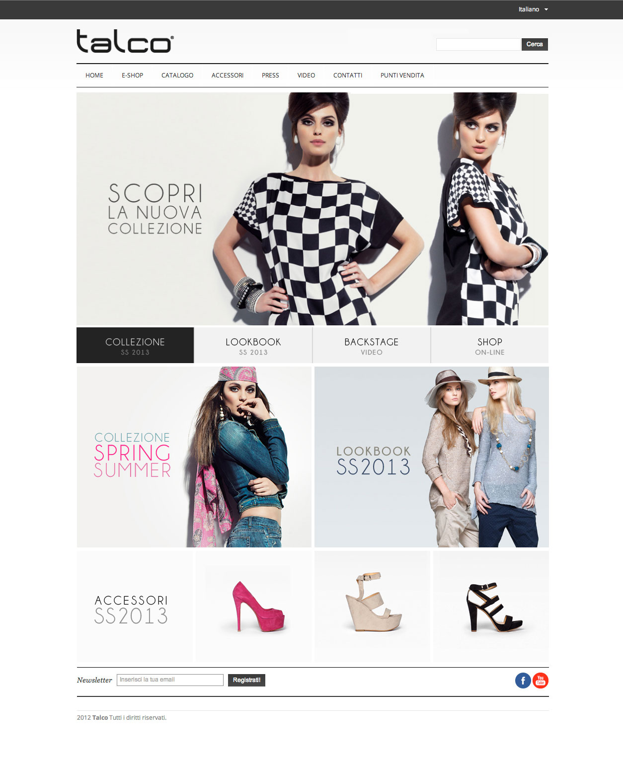 Homepage di Talco
