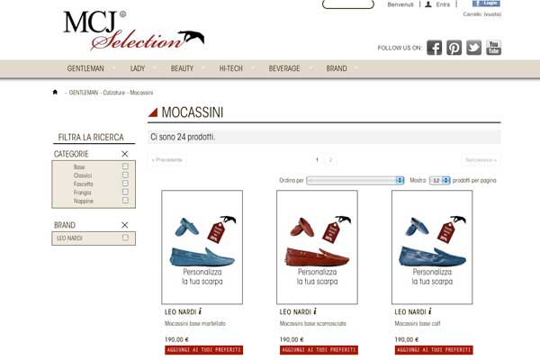 Leo Nardi - screenshot dell'e-shop