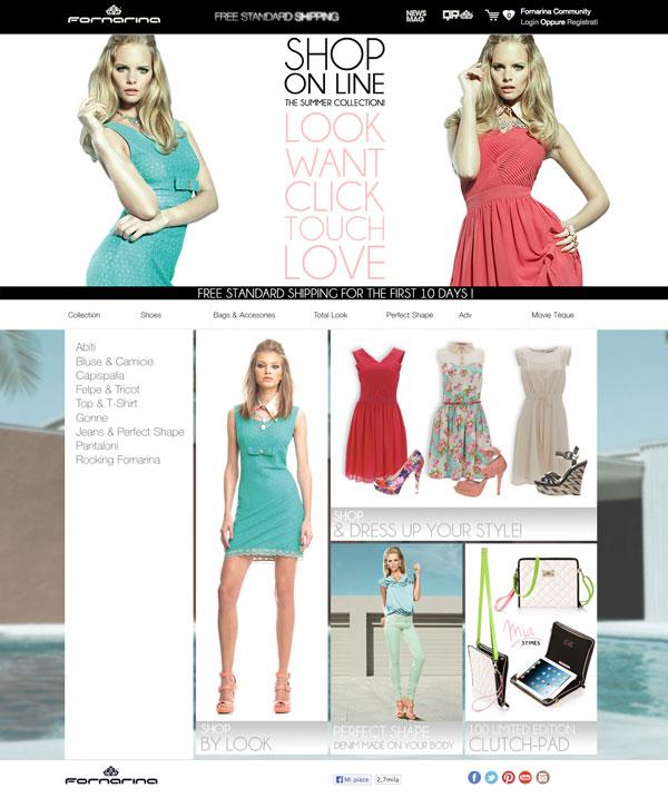 Lo store online di Fornarina