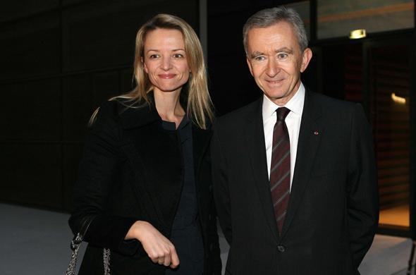 Delphine Arnault insieme al padre
