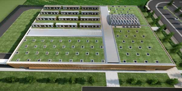 Rendering del nuovo stabilimento Berluti