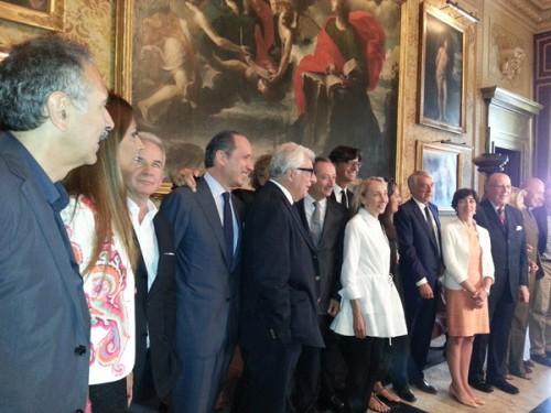 Il Cda della Camera della Moda durante l'incontro a Palazzo Marino