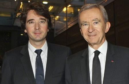 Antoine Arnault con il padre Bernard