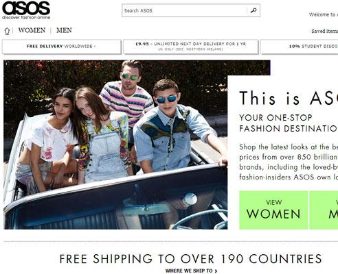 Homepage Asos