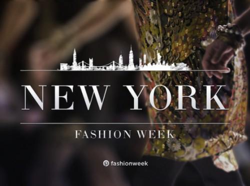 La pagina di Pinterest dedicata alla fashion week