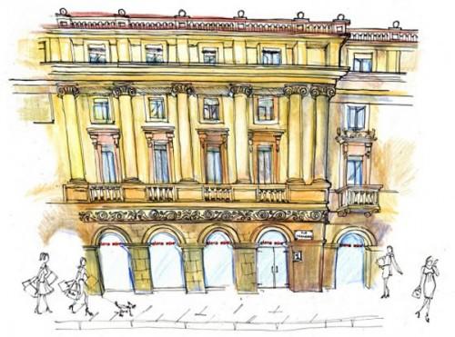 Progetto Elena Mirò in piazza della Scala