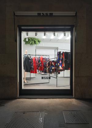 Lo store di Msgm a Milano