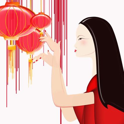 Disegno di donna cinese