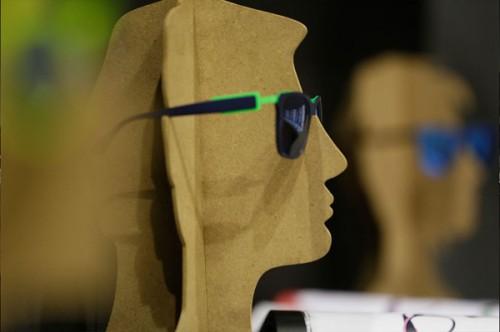 Un occhiale di ricerca presente alla manifestazione
