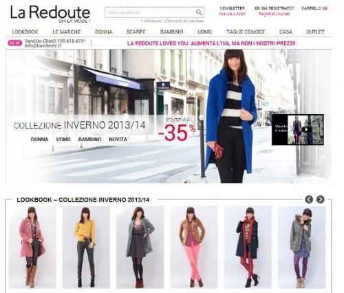 La Redoute home page sito
