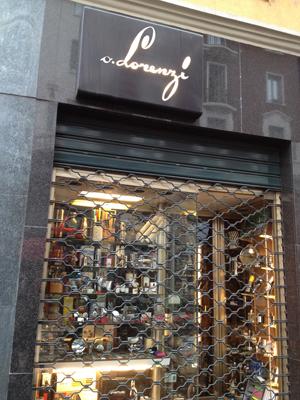 La boutique di corso Magenta a Milano