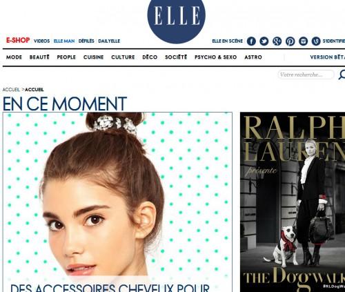 Homepage di Elle