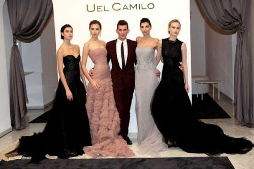 Uel Camilo tra le modelle