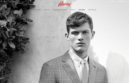 La home del sito web Brioni