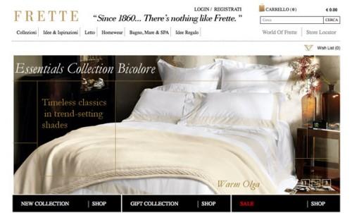 Frette home page