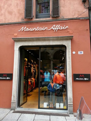 Lo store di Mountain Affair a Bologna