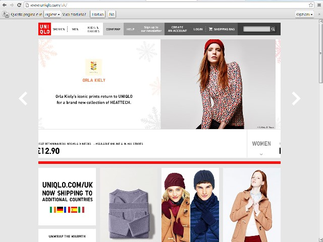 Uniqlo shopping online