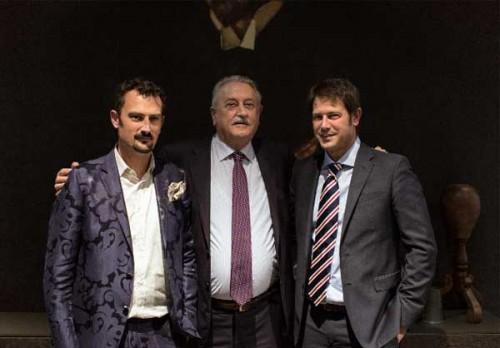 Giorgio Cattelan con i figli Lorenzo e Paolo