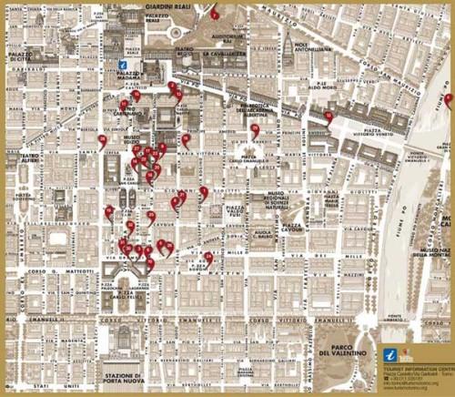 La cartina del lusso torinese
