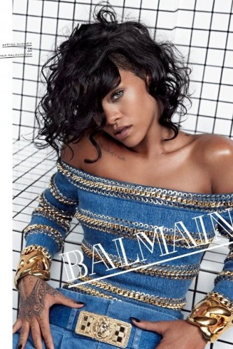 Rihanna per Balmain - Campagna P/E 2014
