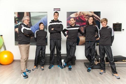 I professionisti di Adidas #cityrunners: Giorgio Rondelli, Elena Casiraghi, Stefano Pozzi, Patrizio Pintus, Elisa Cova e Irene Petrolini