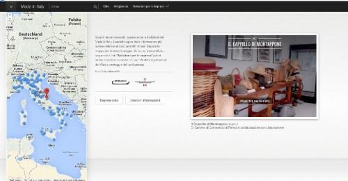 Una schermata del sito google.com/madeinitaly