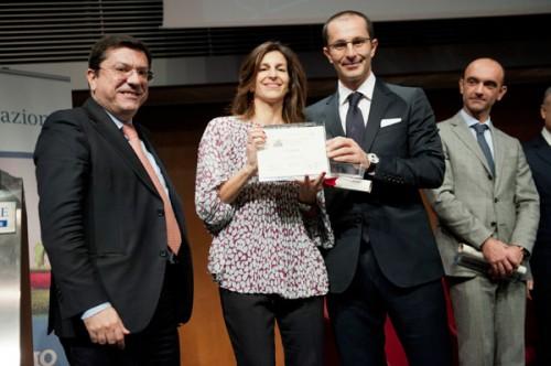Alessandra e Guido Chiavelli ritirano il premio